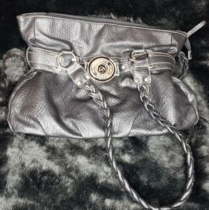 Rosetti black leather handbag
